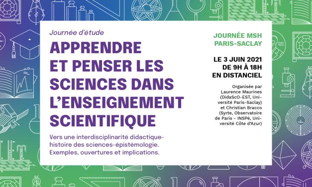 Apprendre et penser les sciences dans l'enseignement scientifique – 3/06/2021