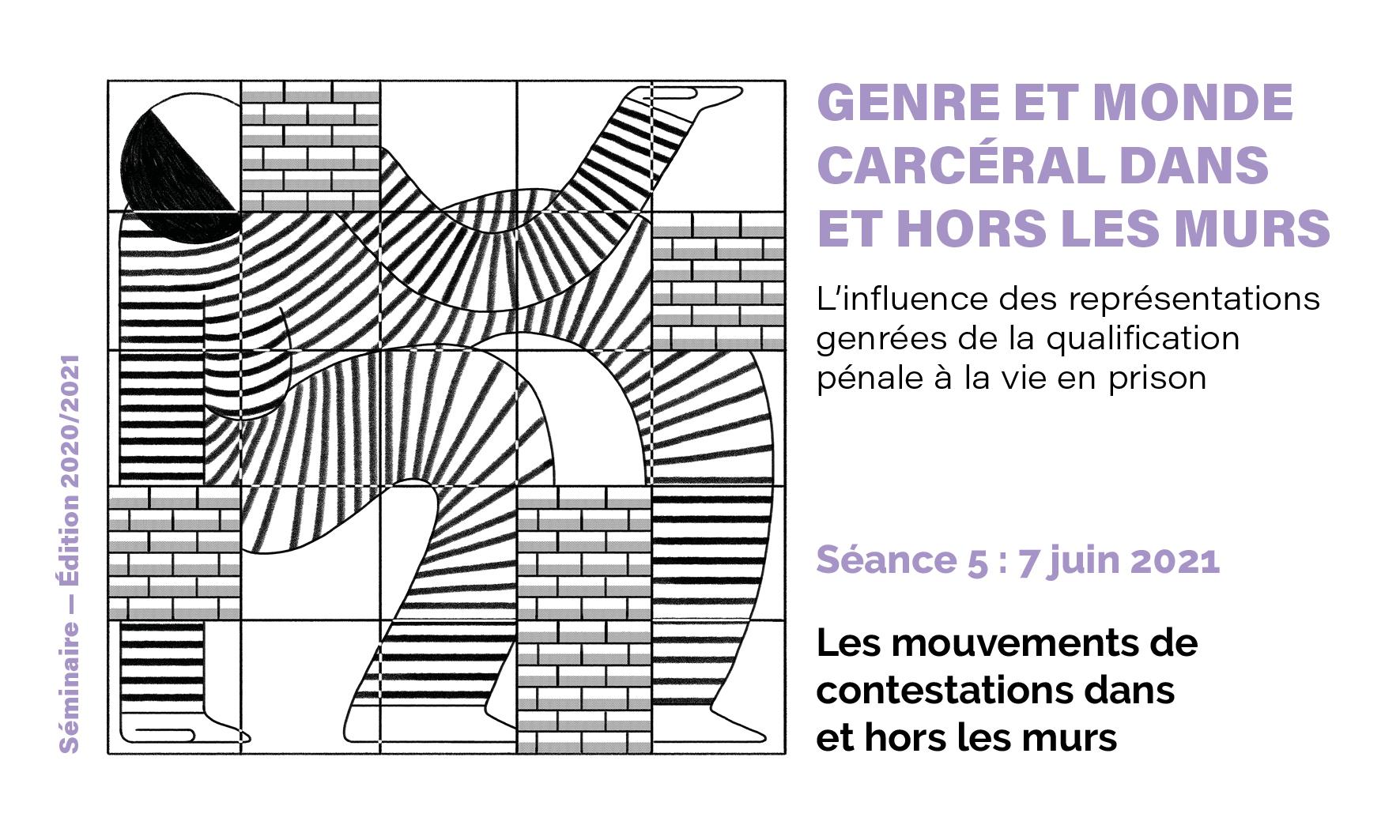 """visuel du séminaire """"genre et monde carcéral"""" du 7 juin 2021"""