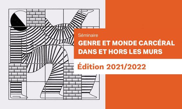 Séminaire «Genre et monde carcéral» – 1ère séance le 12 novembre 2021